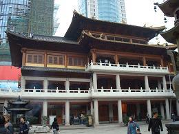 Batiment d'un temple à Shanghai