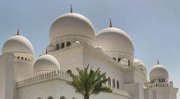 Dômes de la mosquée de Cheikh Zayed