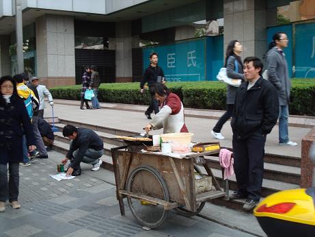 Nourriture dans la rue à Shanghai