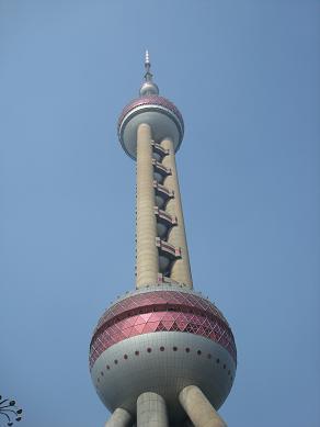 La tour perle de l'Orient à Shanghai