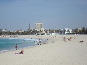 Plage à Dubai au mois de novembre