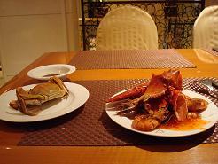 Assiette d'un repas en Chine