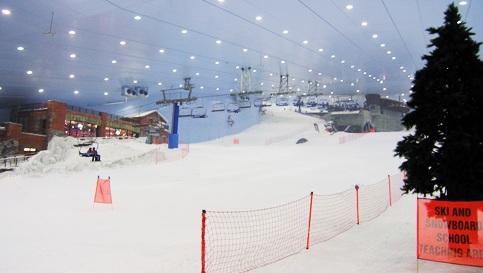 Piste de ski à Dubai à l'intérieur