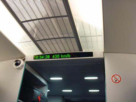Compteur de vitesse du train Maglev à Shanghai