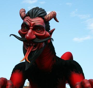 Un montre au carnaval de Nice