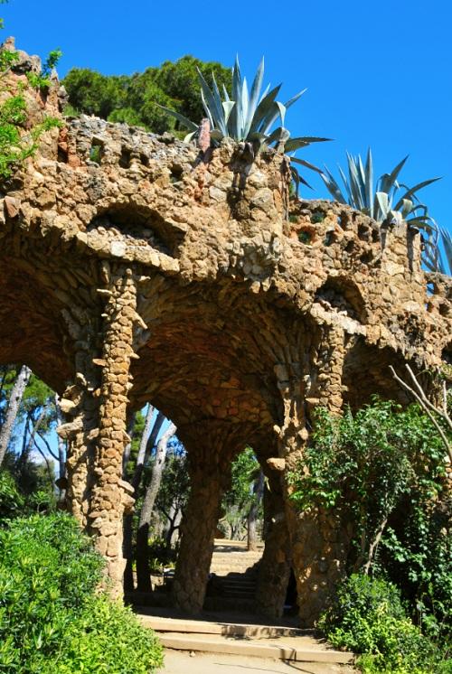 Végétation dans le Parc Guell