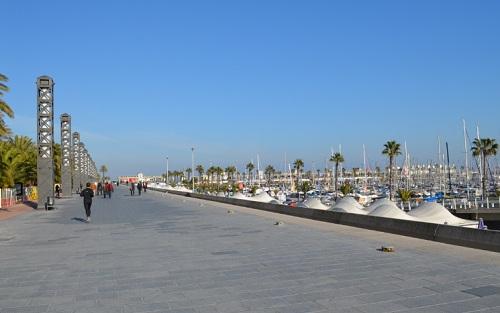 Promenade en front de mer à proximité de la zone olympique