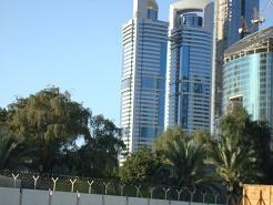 des tours de verre à Dubai